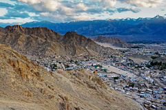 Leh city in Ladakh Stock Photos