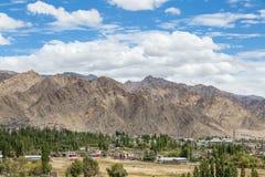 Leh city in Ladakh, India Stock Photo
