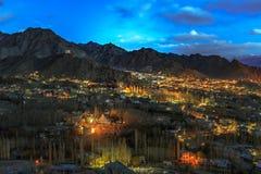 Leh City. Ladakh at night India royalty free stock photography