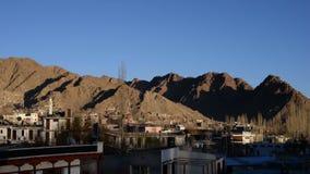 Leh city Ladakh sunset time lapse stock footage