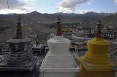 Leh City from Leh Palace. India Stock Photos