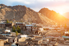 Leh city in northen India Royalty Free Stock Image