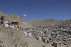 Leh City. From Leh Palace , India Royalty Free Stock Images