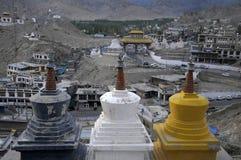 Leh City. From Leh Palace , India Royalty Free Stock Photo