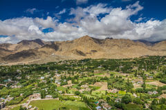 Leh city and valley and Himalayas-Leh,Ladakh,India Royalty Free Stock Photography