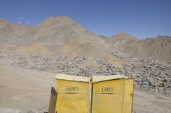 Leh City. View on evening Royalty Free Stock Images
