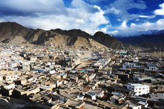 Leh city view from Leh Palace, Leh, Ladakh, India Royalty Free Stock Photo