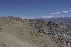 Leh City. Leh View from mountain top Stock Photos