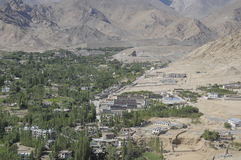 Leh City. The view of Leh City from the stupa Royalty Free Stock Images