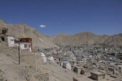 Leh City. The view of Leh City from the stupa Royalty Free Stock Photos