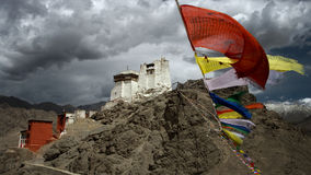 Leh gompa. Gompa on the top of the hill, word of buddha , Leh, ladakh stock image