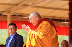 LEH, INDIA - AUGUST 5, 2012: His Holiness the 14th Royalty Free Stock Photography