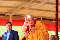LEH, INDIA - AUGUST 5, 2012: His Holiness the 14th Royalty Free Stock Photo