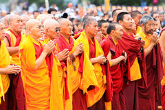 LEH, INDIA - AUGUST 5, 2012: Unidentified buddhist Stock Image