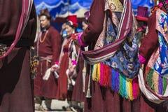 LEH, INDIA - SEPTEMBER 20, 2017: Niet geïdentificeerde kunstenaars in Ladakhi Royalty-vrije Stock Afbeeldingen