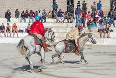 The Ladakh festival 2017. LEH, INDIA - SEPTEMBER 22, 2017: Polo much during the Ladakh Festival in Leh India on September 20, 2017 Stock Photography