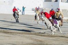 The Ladakh festival 2017. LEH, INDIA - SEPTEMBER 22, 2017: Polo much during the Ladakh Festival in Leh India on September 20, 2017 Stock Photos