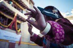 LEH, INDIA - SEPTEMBER 20, 2017: Unidentified artists in Ladakhi Stock Images