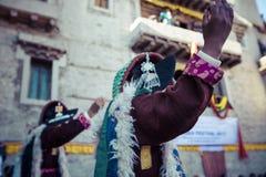 LEH, INDIA - SEPTEMBER 20, 2017: Unidentified artists in Ladakhi Stock Photo