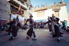 LEH, INDIA - SEPTEMBER 20, 2017: Unidentified artists in Ladakhi Royalty Free Stock Photo