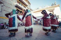 LEH, INDIA - SEPTEMBER 20, 2017: Unidentified artists in Ladakhi Royalty Free Stock Photos