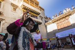 LEH, INDIA - SEPTEMBER 20, 2017: Unidentified artists in Ladakhi Royalty Free Stock Photography