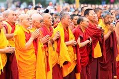 LEH INDIEN - AUGUSTI 5, 2012: Oidentifierad buddist Fotografering för Bildbyråer