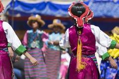 LEH, INDIEN - 20. SEPTEMBER 2017: Nicht identifizierte Künstler in Ladakhi Lizenzfreie Stockbilder