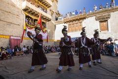 LEH INDIEN - SEPTEMBER 20, 2017: Oidentifierade konstnärer i Ladakhi Royaltyfria Foton