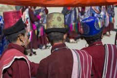 LEH INDIEN - SEPTEMBER 20, 2017: Oidentifierade konstnärer i Ladakhi Royaltyfri Foto
