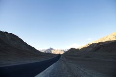 Leh-Kargil-Srinagar highway near magnetic hill in Ladakh Stock Photos