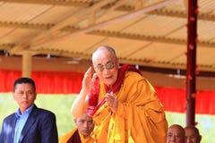 LEH, la INDIA 5 de agosto de 2012 - su santidad el 14to Foto de archivo libre de regalías