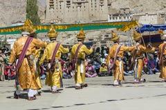 LEH, LA INDIA - 20 DE SEPTIEMBRE DE 2017: Artistas no identificados en Ladakhi Fotos de archivo libres de regalías