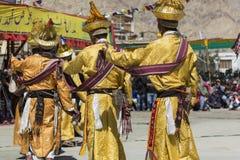 LEH, LA INDIA - 20 DE SEPTIEMBRE DE 2017: Artistas no identificados en Ladakhi Foto de archivo libre de regalías
