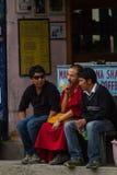 LEH, LA INDIA 3 DE SEPTIEMBRE: Monje budista3, 2011 en Leh, la India. BU Fotografía de archivo