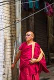 LEH, LA INDIA 3 DE SEPTIEMBRE: Monje budista3, 2011 en Leh, la India. BU Imagenes de archivo