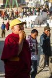 LEH, LA INDIA 3 DE SEPTIEMBRE: Monje budista3, 2011 en Leh, la India. BU Imagen de archivo