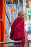 LEH, LA INDIA 3 DE SEPTIEMBRE: Monje budista3, 2011 en Leh, la India. BU Fotos de archivo