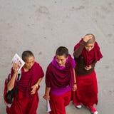 LEH, LA INDIA 3 DE SEPTIEMBRE: Monjes budistas3, 2011 en Leh, la India. B Fotografía de archivo libre de regalías
