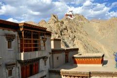Leh (Ladakh) - château de Tsemo de palais de Leh Image libre de droits