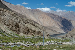 Leh Ladakh highway in Himalayas Aug 2017 Royalty Free Stock Images