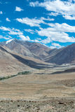 Leh Ladakh highway in Himalayas Aug 2017 Royalty Free Stock Photo