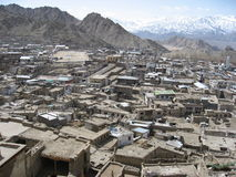 Leh, Ladakh, India. View over Leh, capital of Ladakh, in Jammu & Kashmir,  North India Stock Photos