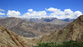 Leh, Ladakh, India. Beautiful scenic view  in Leh, Ladakh, India Royalty Free Stock Photo