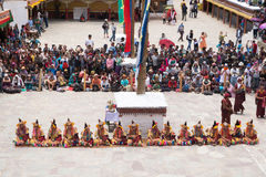 Leh Ladakh,India - July 7,2014 : Many people go to Hemis Festival Stock Photos