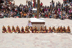 Leh Ladakh,India - July 7,2014 : Many people go to Hemis Festival Royalty Free Stock Photography