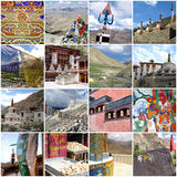 Leh Ladakh photos collage Royalty Free Stock Photo