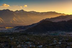 Leh Ladakh stad Royaltyfri Fotografi