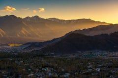 Leh Ladakh stad, Leh Ladakh, Indien Royaltyfria Foton