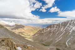 Leh landscape from Khardung la pass. India Royalty Free Stock Photography